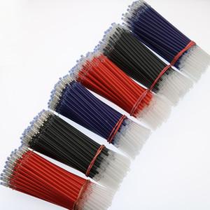100 pc / lote Gel Neutro Caneta Recargas De Tinta Gel Recargas Boa Qualidade Preto E Azul Vermelho 0.5 Mm Carteira Escritório Escola Suppli