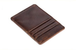 New top men's leather Card package multiple card-bit retro style card bag fashion leisure business wallet credit card holder