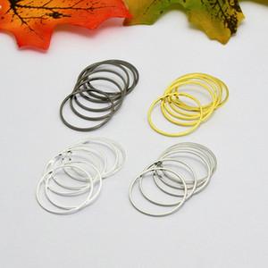 100 pcs 20mm Métal Rond Cercle connecteurs boucles d'oreilles / pendentifs Accessoires DIY Bijoux trouver