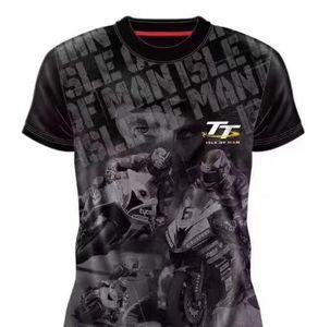 Isle of Man TT racing T-shirt صيفية دراجة نارية ركوب قصيرة الأكمام عشاق ثقافة سباق قميص تجفيف السرعة على الطرق الوعرة