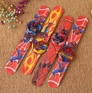 Nouveau mode Noël enfants hgih qualité mode unisexe enfants dessin animé numérique Spider-Man slap watch meilleur cadeau