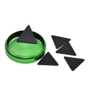 Raschiatori di plastica del polline del triangolo nero di HoneyPuff per gli accessori di fumo di erbe Trasporto libero