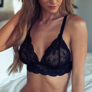 New Sexy Women Unpadded Intimates Tops +Underpants Lace Floral Lace Bra Sets Underwear Fashion Sexy Female Hot Polyester
