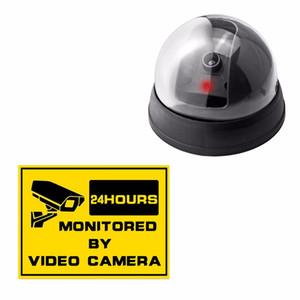 무선 홈 보안 가짜 카메라 감시 실내 IR CCTV 더미 돔 가짜 감시 보안 카메라