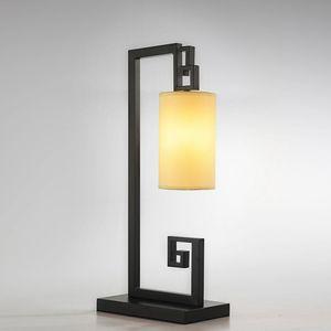 OOVOV estilo chino de tela lámpara de escritorio del hierro creativo Dormitorio Sala de Estudio mesa de iluminación Sala Lámparas de mesa