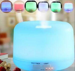 300 ml Aceites Esenciales Difusores Humidificador de Aire Aroma Difusor Aroma Lámpara Aromaterapia Eléctrica 7 Color LED Luz LLFA