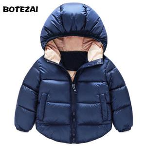 2017 Mode Enfants Bas Parkas Enfants vêtements D'hiver Épais Chaud Garçons Filles Vestes Manteaux Bébé thermique doublure vers le bas