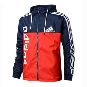 2019 Hoodeis Mens Sports Jackets Windbreaker Carta Padrão traço fino Brasão Zipper Casual Jackets Hot Sale Top Quality L-4XL