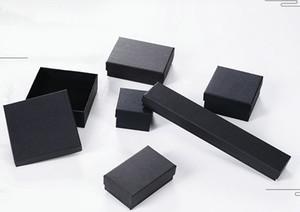 Haut Archives Noir Kraft Bijoux Bracelet Collier Bague emballage oreille Clou Boîte de Noël Nouvel An CADEAU 6 taille