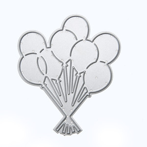 Lovely Balloons Cutting Dies Stencil per DIY Scrapbooking / album fotografico Carte decorative in rilievo di carta fai da te