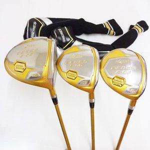 Novos mens clubes de Golfe HONMA S-06 4 Star driver + 2 fairway grafite de madeira eixo de Golfe R / S flex conjunto De Madeira de golfe frete grátis