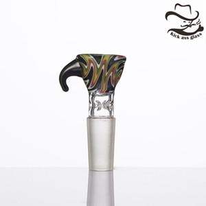 머리 반전 유리 콘 그릇 담배 담배 봉 봉 조각 물 파이프 379에 대 한 14mm 19mm 카바 모자 공동 남성 유리 그릇