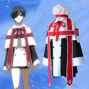Anime Noir Bulter Kuroshitsuji Ciel Église Phantomhive Tenue Uniforme Cosplay Costume Robe Habillée
