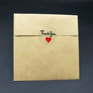 500 teile / los Insgesamt Pro Rolle Transparent Danke mit rotem Herz Versiegelung Aufkleber 30mm
