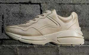 Rhyton Vintage sapatilha Loja as últimas modas de top sneaker yakuda Mens Leather sapatos casuais sapatos de lazer sapatilhas de Formação