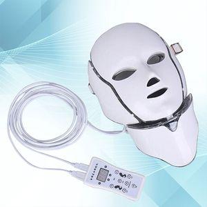 Nouvelle version PDT Masque facial de thérapie légère LED avec 7 couleurs de photon pour le visage et le cou utilisation à la maison rajeunissement de la peau LED masque facial