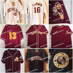 Hommes Arizona State Sun Devils 2007 College Jersey Baseball personnalisés 16 LoDuca de Sundeuils point Sewn haute qualité baseball Jersey