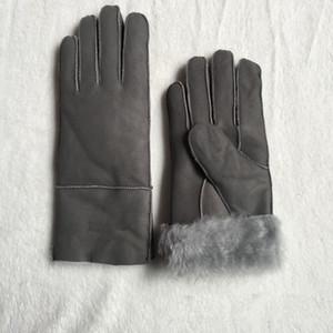 Envío gratuito - Guantes de cuero de alta calidad para mujer Casuales Guantes térmicos Guantes de lana para mujer en una variedad de colores