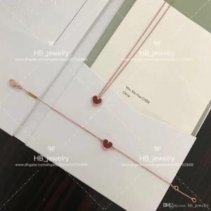 Joyas de lujo de VCA, Collar en forma de corazón / Pulseras para dama Diseño Mujeres Fiesta Boda Joyería de lujo para la novia. Botón de collar original