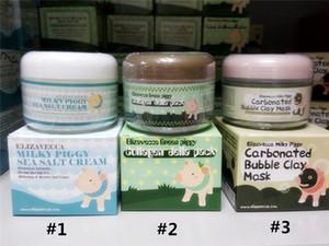 Elizavecca Milky Piggy Газированная пузырьковая глиняная маска Green Piggy Collagen Jella Pack Pig Mask Крем с морской молочной поросенкой и морской солью