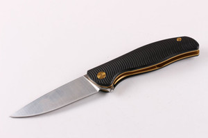 Couteau cadeau de couteaux couteau pliant poli à la main d'or couteau Shirogorov manche lame en acier 8CR17MOV roulement à billes système