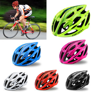Fashion Muticolor High Strength Bike Helmet Simple Ultralight Breathable Cycling Safety Hat MTB Road Bicycle Protected Helmets