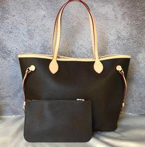 2 pçs / set clássico Designer de bolsas das mulheres flor senhoras composto bolsa de couro embreagem bolsas de ombro bolsa feminina com carteira de número de série
