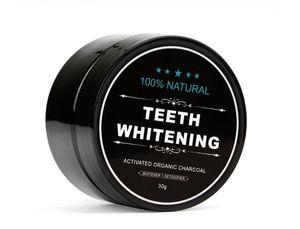 Dropshipping utilizzo giornaliero Teeth Whitening Scaling Polvere igiene orale pulizia Confezione Premium attivato Denti carbone di bambù polvere bianca