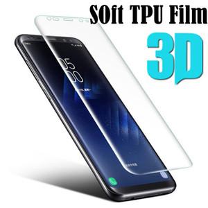 3d full cover protetor de tela para samsung galaxy s9 s8 mais s7 borda s6 a5 a7 a7 a3 2017 tpu filme macio (não de vidro temperado)
