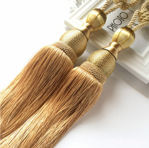 High-grade polyester silk european-style curtain hanging ball tassel accessories curtain buckles tie rope decoration tassel single ball