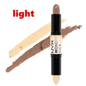 Doppio attacco Contour NYX Wonder Stick Foundation Nascondi Blemish Dark Circle Cream Concealer base liquida di sagoma del DHL libera il trasporto