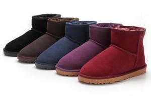 Горячее надувательство зима классического короткий Mini 58541 снега ботинки женщин популярна в Австралии из натуральной кожи сапог Моды женщины Snow Boots