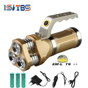 강력한 휴대용 LED 손전등 3 크리 어 T6 12000LM 5 모드 토치 강력한 야영 사냥 광부의 램프 토치 손전등