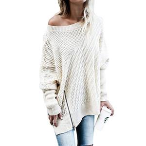 Maglioncino Pullham maglione donna maglione lavorato a mano manica lunga allentato O-Collo Hedging maglione femminile Pullover Pull Femme