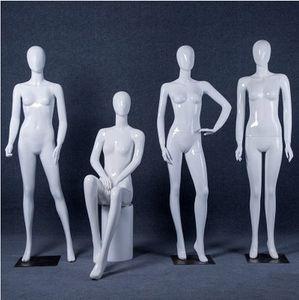 Maniquí de alta calidad nuevo maniquí de cuerpo completo Maniquí femenino brillante maniquí blanco fabricante profesional en China