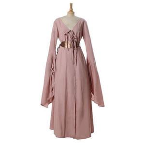 왕좌의 게임 Sansa Stark Women Medieval Dress Royal 코스프레 마치 남자들 한복