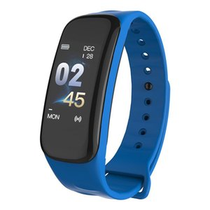 C1S Smart Bracelet Color Screen Blood Pressure Heart Rate Monitor Sleep Fitness Tracker Wristband C1 Plus For Android IOS