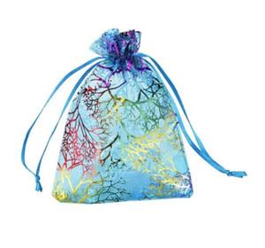 أكياس الهدايا الأورجانزا حقائب الرباط هدية المرجان أكياس الهدايا أكياس سلسلة المجوهرات مجوهرات حزم الحالات حقائب هدايا عيد الميلاد