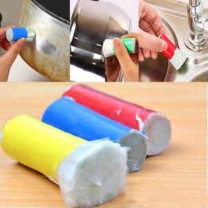 جديد مزيل الصدأ تنظيف فرشاة الفولاذ الصلب ماجيك تنظيف غسل عصا ل وعاء السلطانية المنزلية أداة نظيفة HH7-845