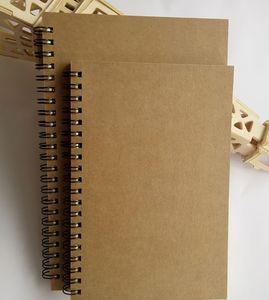 Portable Business kraft papers Blocchi note nero disegno schizzo Notebook Spirale 100 pagine diario notebook ufficio scolastico fornitori note libro