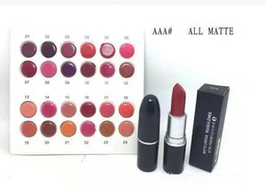Free Shipping 2018 New Makeup Lips MAAA Matte Lipstick!3g 24 different colors (24 pcs  lot)