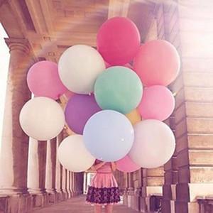 36 pouces Big Round Latex Balloon 14 Couleurs Décoration De Mariage Baloons Bébé Fête D'anniversaire Valentine's Day Decor Giant Ballon