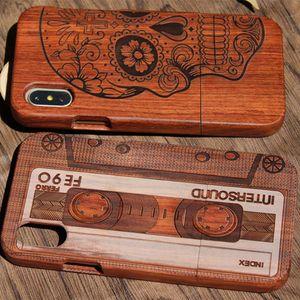 Dongguan fabricante de bambu de madeira case para iphone 10 x 7 8 plus 6 6 s 5 se alta qualidade tampa do telefone de madeira completa de proteção para samsung s9 s8