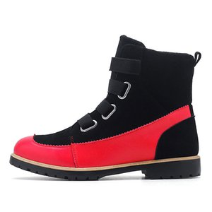 Men's Boots New Winter Warm Male Boots Sewing Non-slip Young Red Fashion for Men Shoes