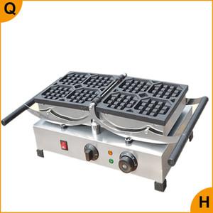 Qihang_top Atacado bancada Comercial Elétrica Rotating Waffle Máquina de Fazer Criador 110V 220V Rotating Belgian Waffle Baker