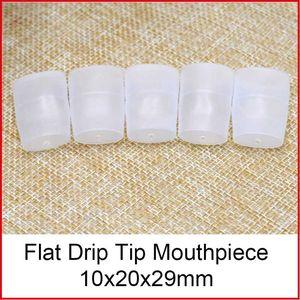 Consejos desechables transparentes de la prueba del silicón de la boquilla de la extremidad de goteo para los cigarrillos electrónicos universales atomizador tapa del tanque de Vape