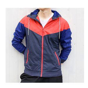 Envío gratis 4 colores Nueva Primavera Otoño Moda Windrunner Thin Jacket Coat de manga larga Patchwork Active Negro Hombres Chaquetas M-3XL