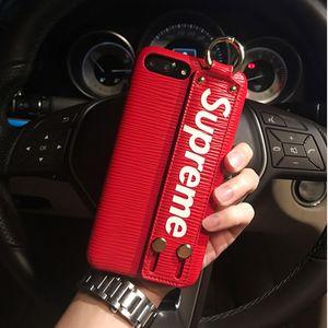Мода Sup Case Полоса Роскошный Чехол для Телефона С Палец Band Держатель Защитные Чехлы Для iPhone X 8 7 Плюс Мальчик в Девочке Подарок