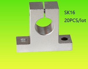 20 pz / lotto SK16 SH16A 16mm supporto ferroviario lineare asta di guida lineare cuscinetto lineare asta di guida supporto per router cnc parti della stampante 3d