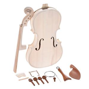 DIY 4/4 Полный размер Скрипка DIY Kit натуральный массив дерева акустическая Скрипка Скрипка Скрипка комплект с эквалайзером ель топ клен назад шеи гриф